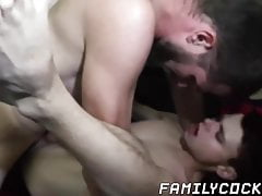 Twink gets barebacked hard by stepdad on a camping trip