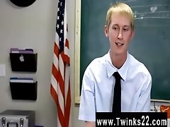 Hot gay scene Ace Sterling stands at the front of the classroom