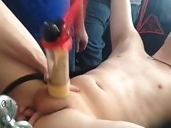 18yr old Chubs gets fingered and milked