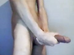 Guy showing his monster cock