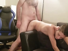 Horny Daddy Drilling Twink Ass