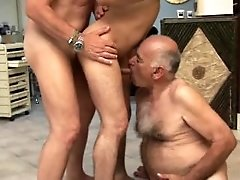 Two latin daddies fuck a twink