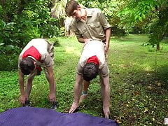Boys At Camp - Physical Fitness Merit Badge