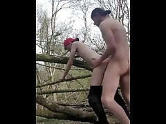 Twink gets fucked by a stud outside