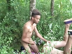 daddy fucked by young xxl in exhib outdoor forest