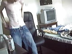 Teen Skater Boy Wanks with Baby Oil