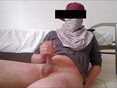 Viel Sperma vor der Webcam gespritzt