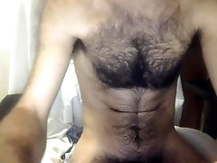 Straight hairy hot stud wanking on cam 3