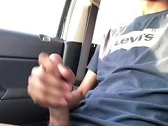 Big Dick Teen Cumming in Parking Lot