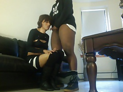 Hot Teen Sissy Sucking Black Cock